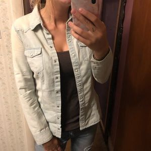 H&M Thin Collared Jean Jacket Flannel